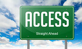 Highway Signpost with Access.
