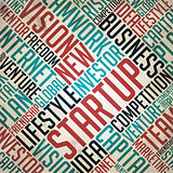 Startup - Retro Word Collage.