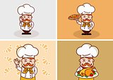 Funny chef Illustration