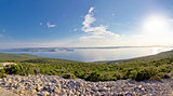 Kornati islands archipelago panoramic view