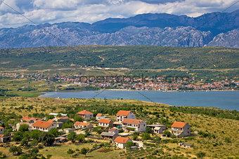 Posedarje bay and Velebit mountain view