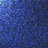 mosaic wall in cobalt blue