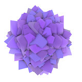 3d abstract purple lavender shape on white