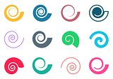 Colorful spiral icons