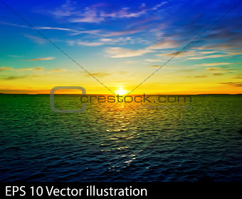 abstract nature clouds background with yellow blue sunrise