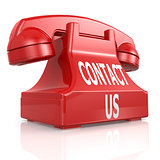Red contact us phone
