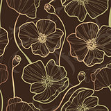 Elegance Seamless pattern with poppy