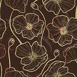 Elegance Seamless pattern with poppy