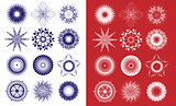 Snowflakes isolated in the vector