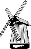Windmill in the vector