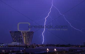 Thunderstorm over Copenhagen