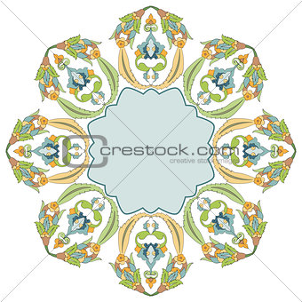 circular floral background four