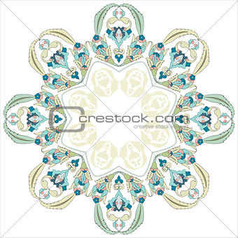 circular floral background three