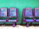 empty waiting area chairs