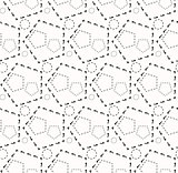Seamless pattern of the hexagonal net