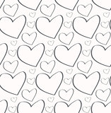 Seamless pattern. Stylish print with hand drawn hearts