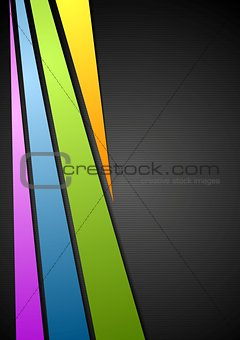 Abstract corporate stripes design