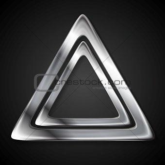 Abstract metallic triangle logo