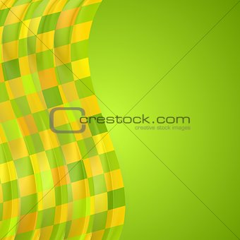 Bright wavy background