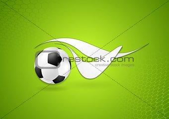 Bright soccer logo design