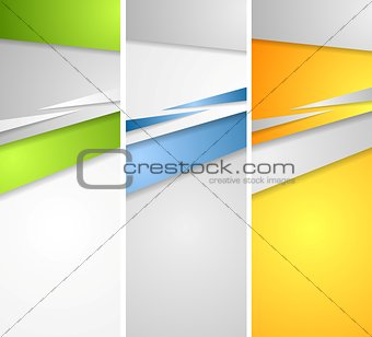 Abstract bright banners