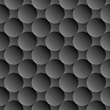 Design seamless monochrome volumetric pattern