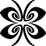 Design monochrome decorative butterfly silhouette