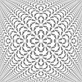 Design symmetric lacy diagonal warped pattern