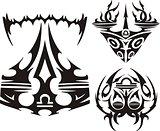 Zodiac Signs - scales. Vector set.