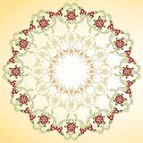 circular floral background