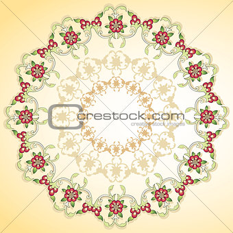 circular floral background