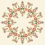 circular islamic background five