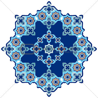 circular islamic background