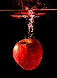 Apple Falling To Water