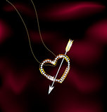 jewelry heart and arrow