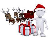 morph man santa and reindeer