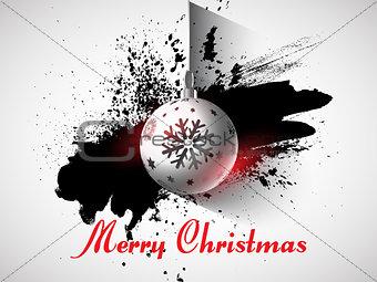 Grunge Christmas bauble background