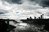 Cloudy sky over the Niagara