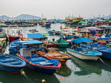 boats at cheung chau scenic hong kong
