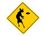 Dog agility warning sign