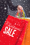 Christmas Sale Shopping Bag
