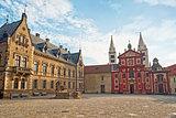 Saint George Square with Basilica in Prague
