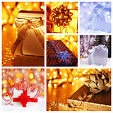 Christmas gift concept collage