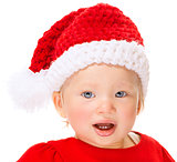 Cute Santa baby portrait