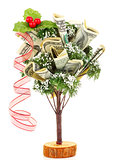 Money Christmas tree