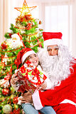 Receive gift from Santa Claus