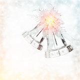 Silver Christmas jingle bell