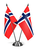 Norway - Miniature Flags.