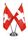 Switzerland - Miniature Flags.