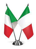 Italy - Miniature Flags.